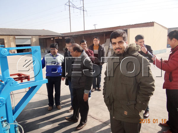 customers visit our egg tray machine