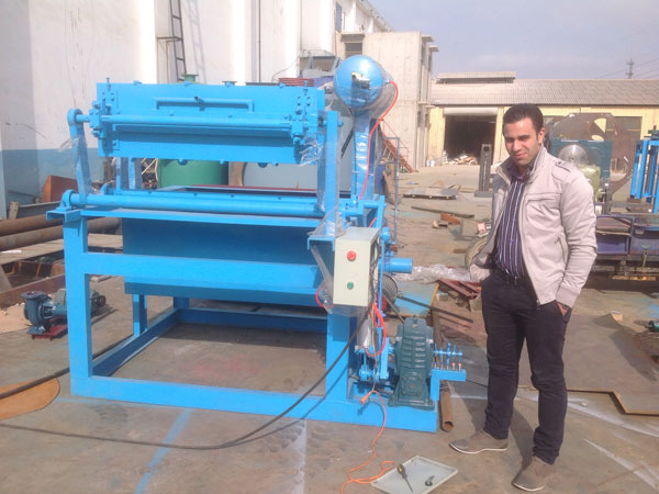 1500pcs egg carton making machine for sale