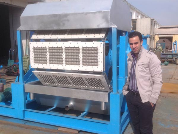 semi automatic papaer egg tray making machine