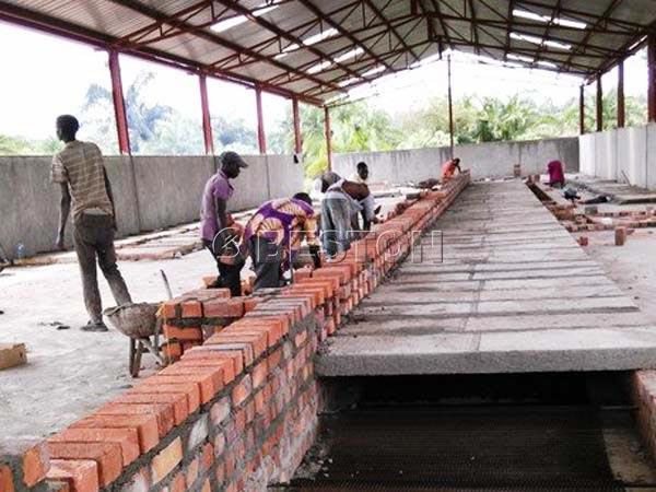 Installing Egg Tray Drying Line in Uganda