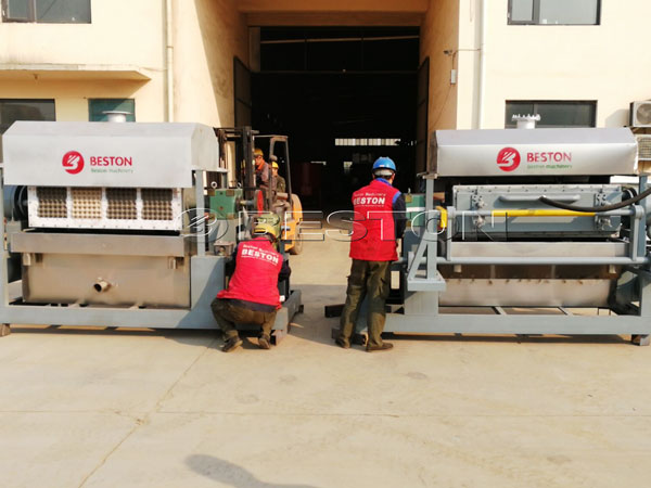 Two Sets of BTF-4-4 Egg Tray Making Machines Shipped To India