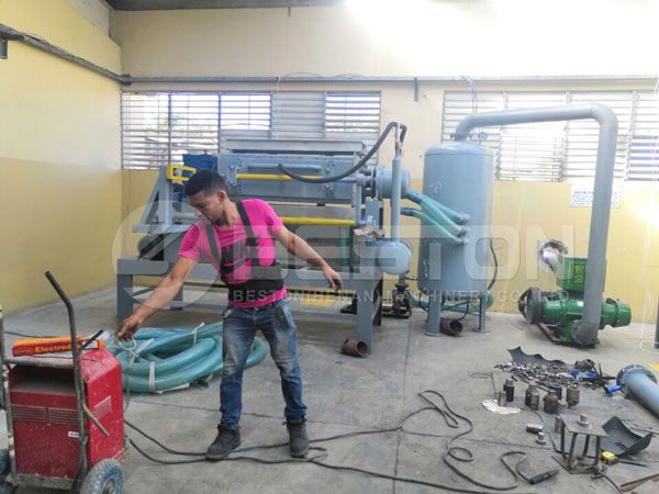 Egg Tray Making Machine Installed In Dominica