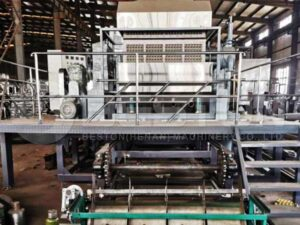 Egg Tray Machine With Metal Drying line