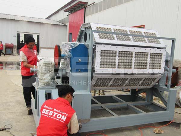 3000-4000pcs Semi Automatic Egg Tray Machine