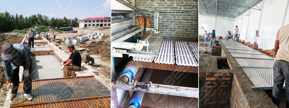 Bricks Building Drying Line