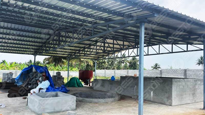 BTF-3-4 Egg Tray Machine Installed in India