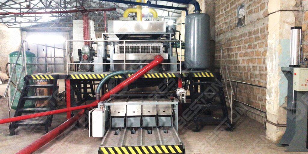 BTF4-4 Egg Tray Machine Installed in Armenia