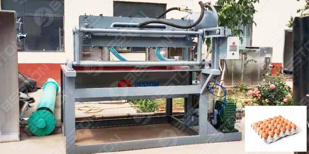 BTF1-4 Small Egg Tray Machine to Peru